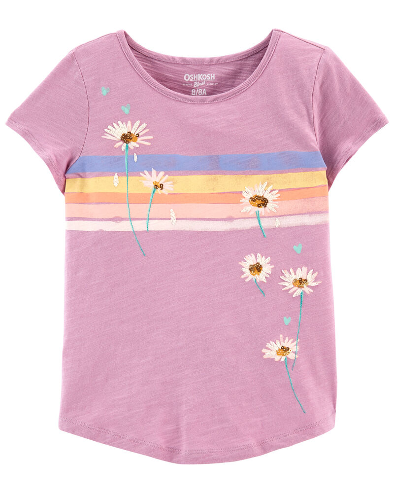 Rainbow Daisies Tee, , hi-res
