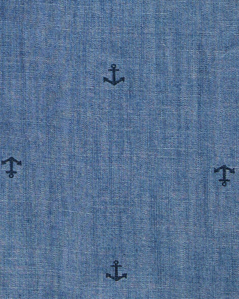 Anchor Chambray Button-Front Shirt