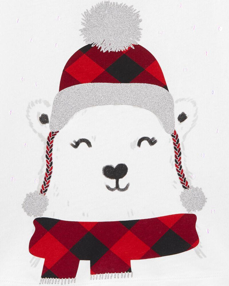 T-shirt en jersey à ours polaire, , hi-res