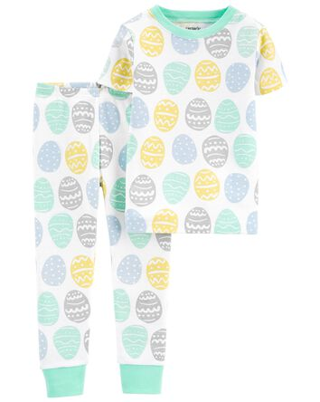 Pyjamas 1 pièce en coton ajusté Pâq...