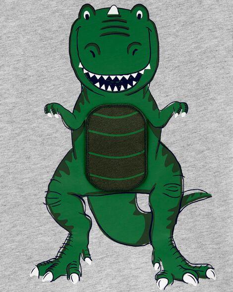 T-shirt en jersey avec rabat dévoilant un dinosaure