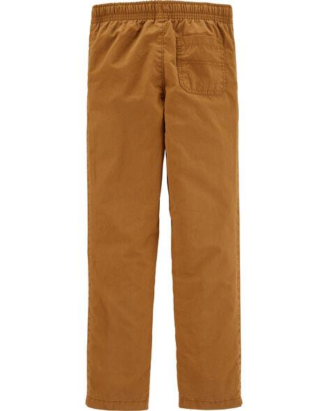 Pantalon en popeline à enfiler