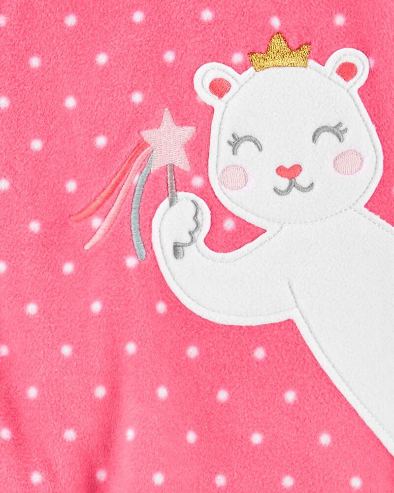 1-Piece Mouse Fleece Footie PJs, , hi-res