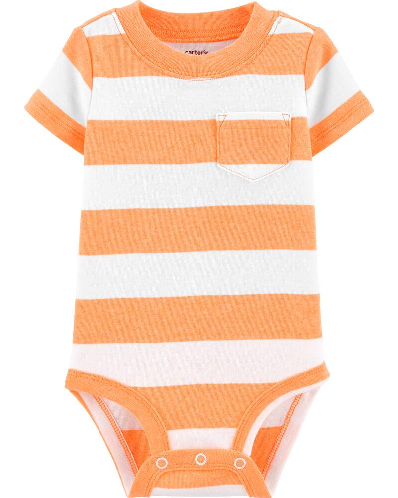 Neon Striped Pocket Bodysuit, , hi-res