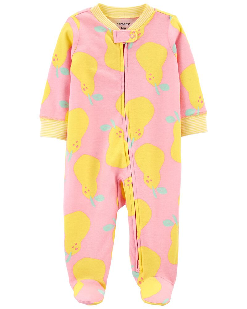 Pear 2-Way Zip Cotton Sleep & Play, , hi-res