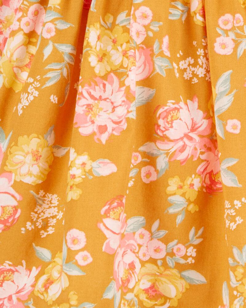 Robe fleurie de style cache-cœur, , hi-res