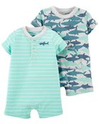 2-Pack Snap-Up Rompers, , hi-res