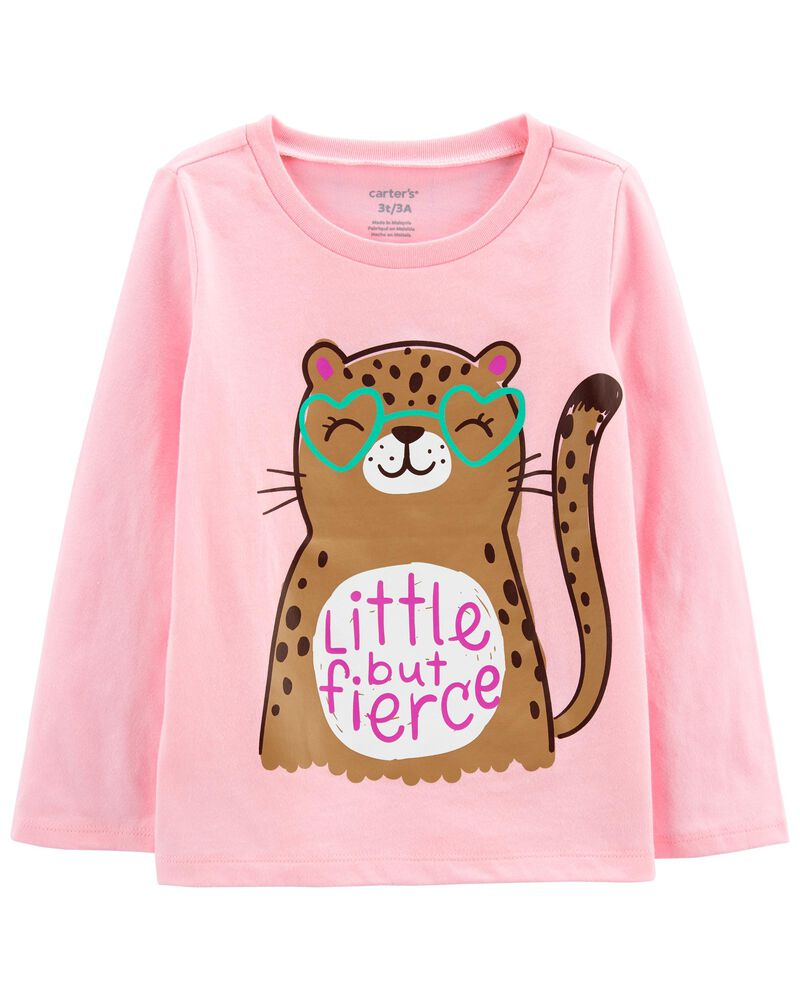 T-shirt en jersey à guépard, , hi-res