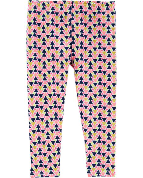 Geo Print Capri Leggings