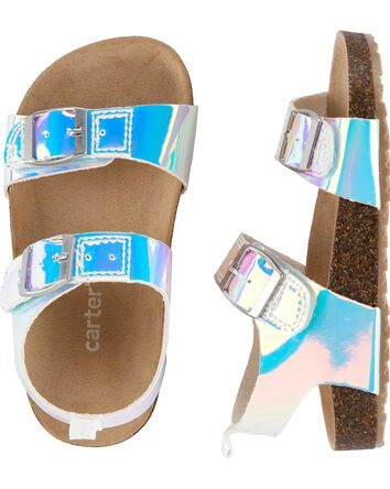 Sandales en liège arc-en-ciel