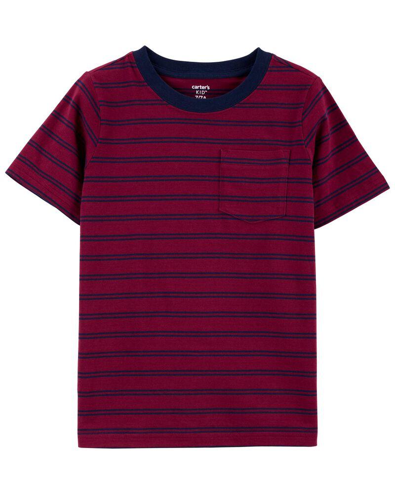 T-shirt en jersey avec poche, , hi-res
