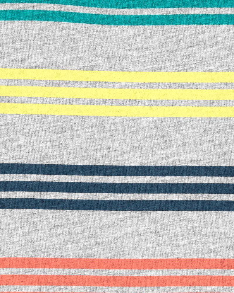 Ensemble 2 pièces t-shirt et salopette courte en tricot de denim, , hi-res