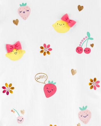 Glitter Fruit Jersey Top