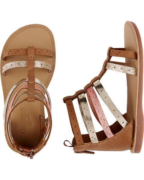 Sandales de style gladiateur métalliques OshKosh