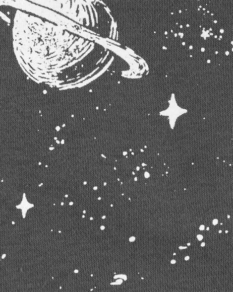 Space Zip-Up Fleece-Lined Hoodie