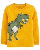 Dinosaur Action Graphic Slub Jersey Tee, , hi-res
