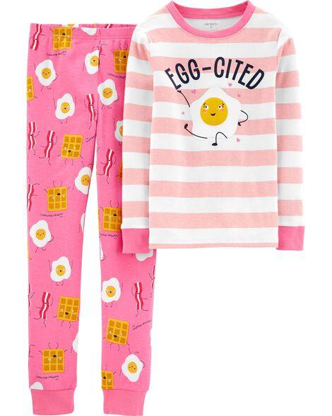 Pyjama 2 pièces en coton ajusté Breakfast