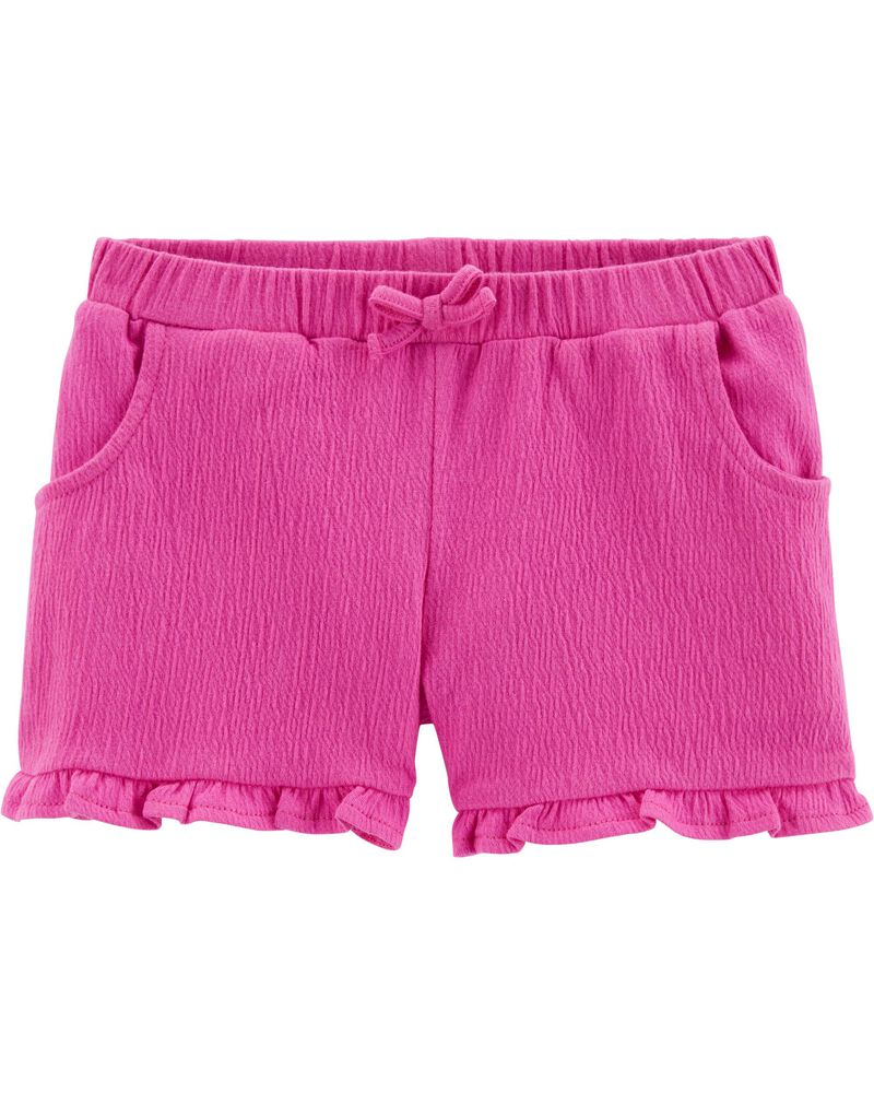 Ruffle Crinkle Jersey Shorts, , hi-res
