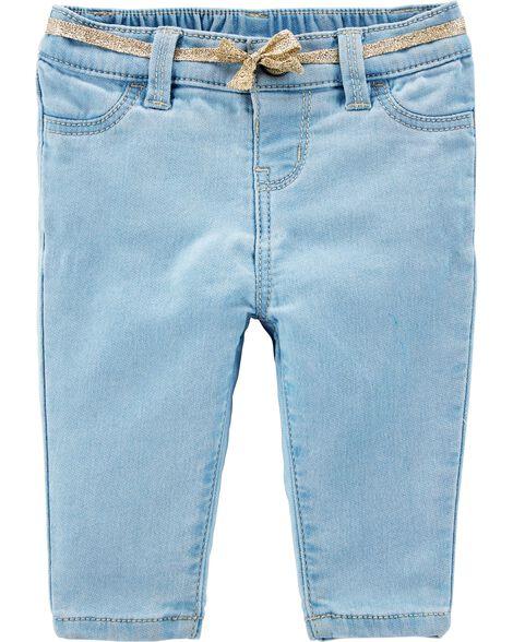 Jeans en tricot de denim