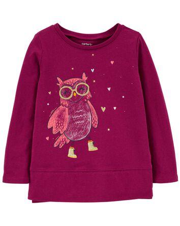 T-shirt en jersey à hibou
