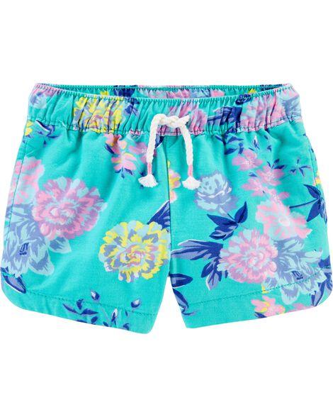 Tropical Floral Sun Shorts