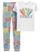 2-Piece Pride 100% Snug Fit Cotton PJs, , hi-res