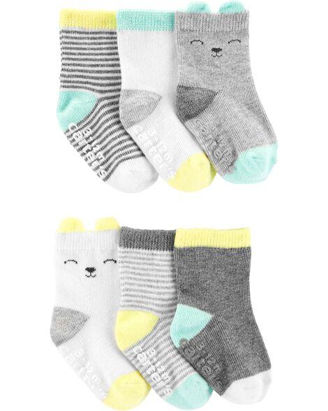6 paires de chaussons pour bébé