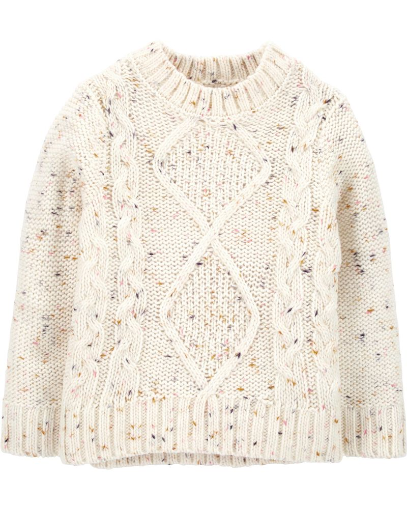 Nep Yarn Cable-Knit Sweater, , hi-res