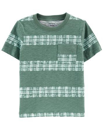 T-shirt à poche teint sur nœuds