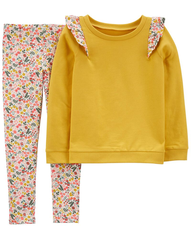 2-Piece French Terry Top & Legging Set, , hi-res