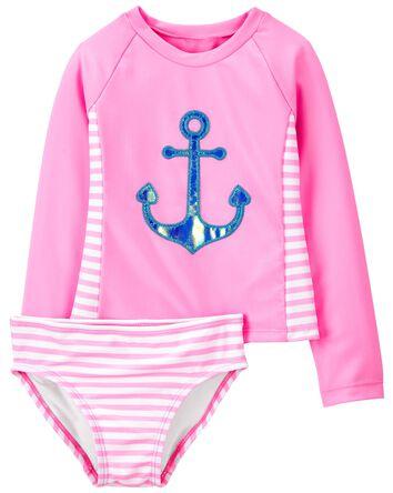Anchor Stripe Rashguard Set