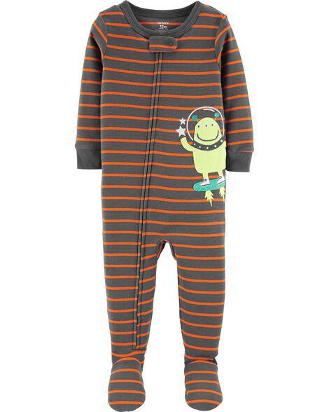 1-Piece Alien Snug Fit Cotton PJs
