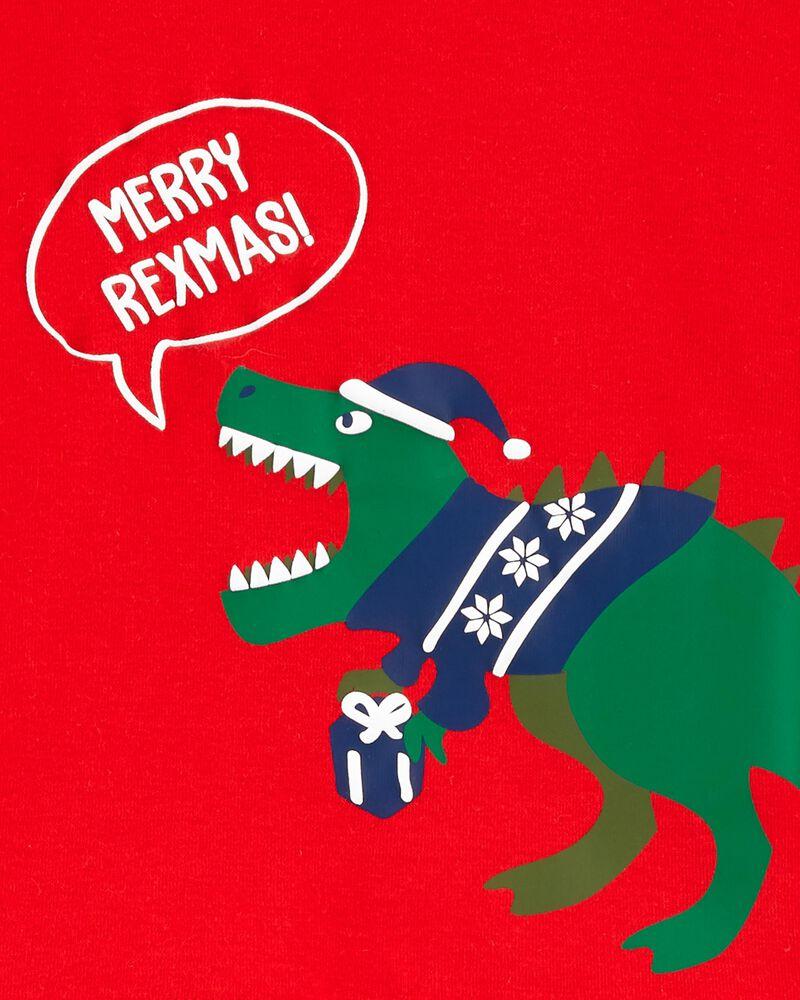 2-Piece Dinosaur Holiday Fleece PJs, , hi-res