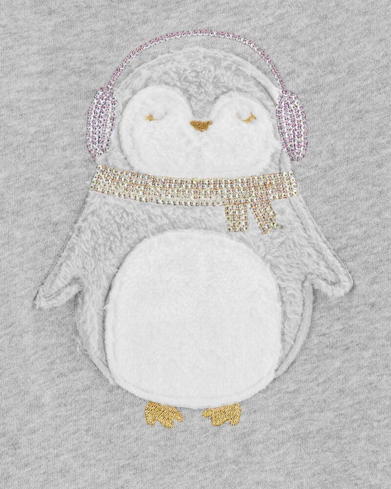 Chandail en molleton à pingouin, , hi-res