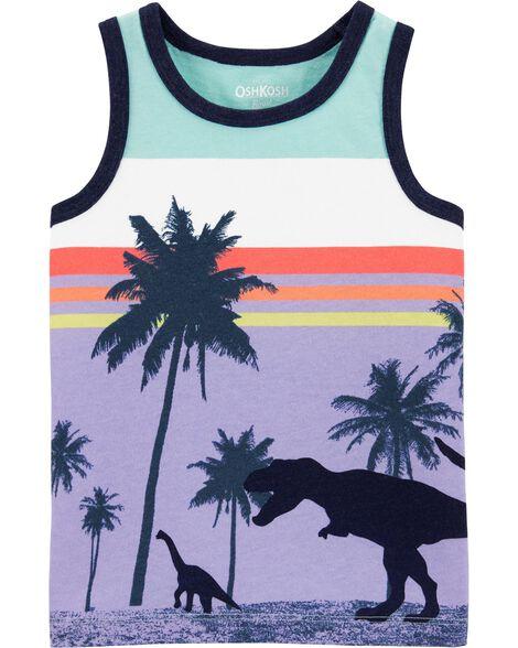 Débardeur pour la plage à dinosaure