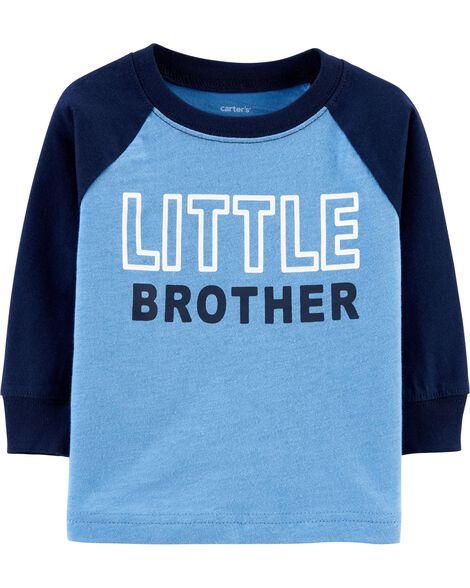 T-shirt en jersey flammé à manches raglan Little Brother