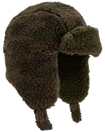 Camo Sherpa Trapper Hat