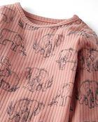 2-Pack Organic Cotton Rib Bodysuits, , hi-res