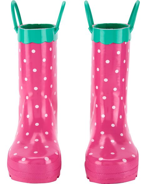 Strawberry Rain Boots