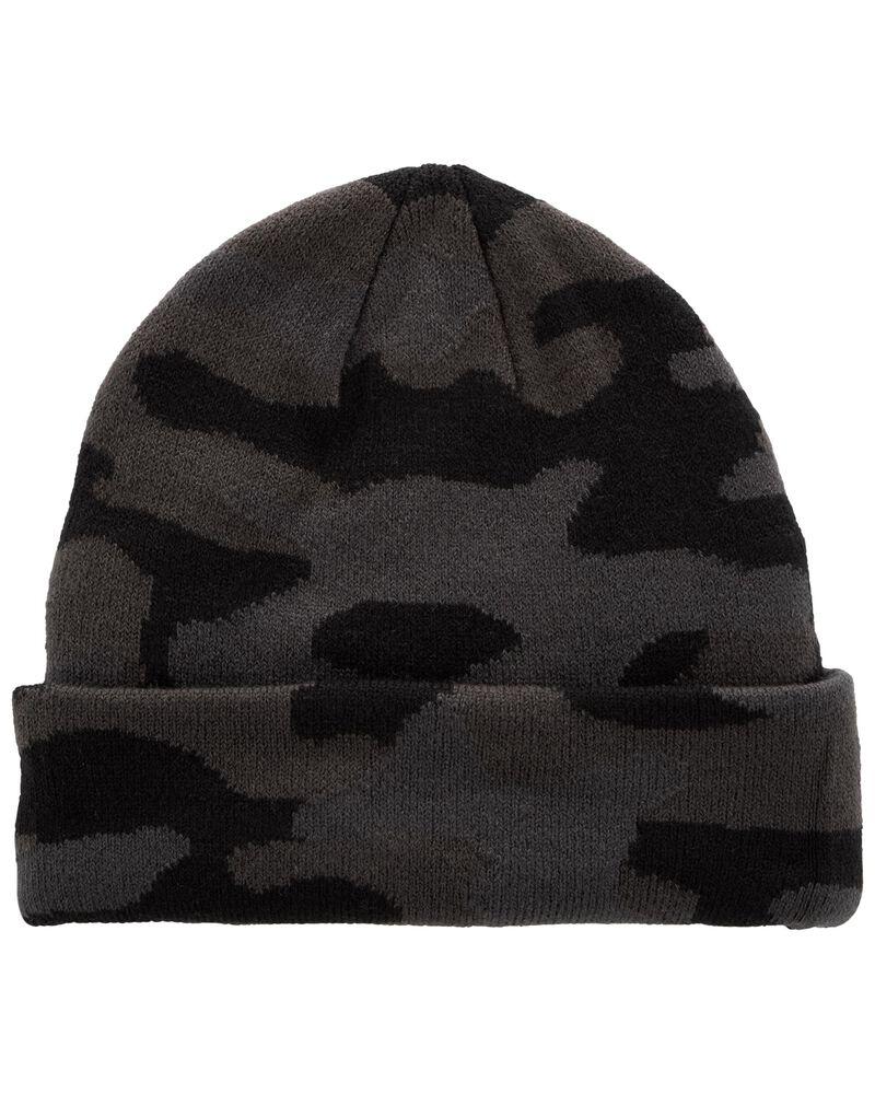 Camo Knit Hat, , hi-res