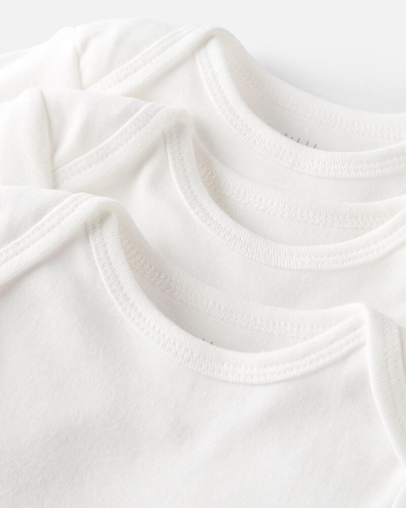 6-Pack Organic Cotton Rib Bodysuits, , hi-res