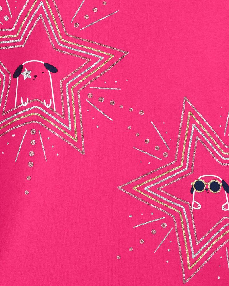T-shirt en jersey avec capuchon et chat, , hi-res