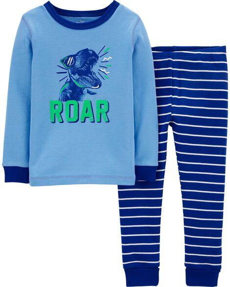 Pyjamas 2 pièces ajusté à dinosaure
