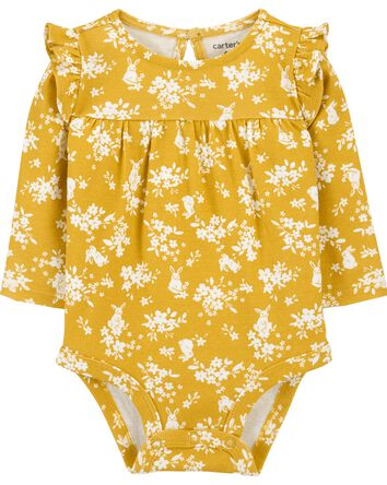 Floral Ruffle Bodysuit
