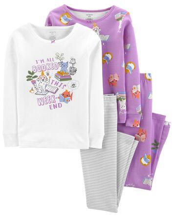 Pyjamas 4 pièces en coton ajusté Re...