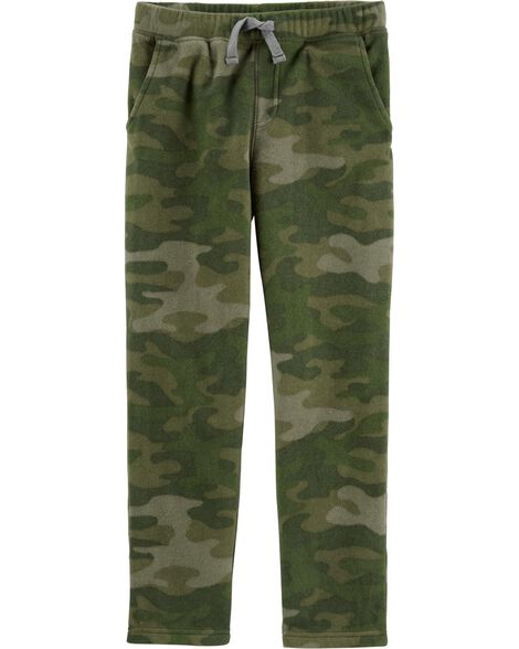 Camo Pull-On Fleece Pants