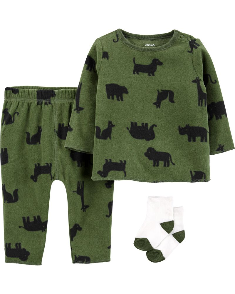 3-Piece Fleece Outfit Set, , hi-res