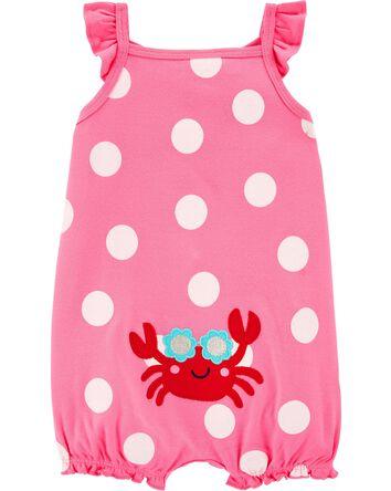 Barboteuse en coton à crabe