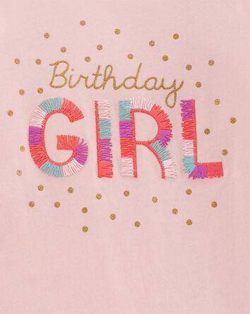 2-Piece Birthday Girl Top & Polka D...