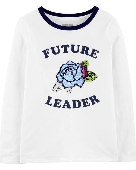 T-shirt à paillettes réversibles Future Leader